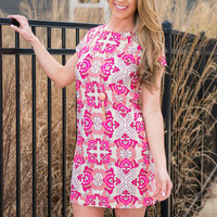 Summer Condo Dress, Fuchsia