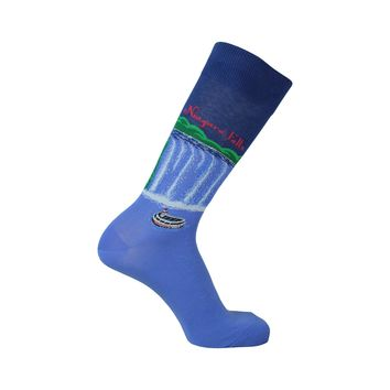 Niagara Falls Crew Socks in Blue