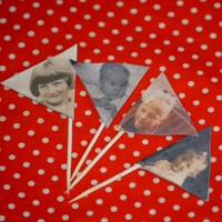 Personalised Flag Cake Toppers