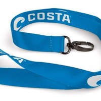 Costa Del Mar Lanyard Logo, Blue/White