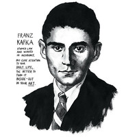 Franz Kafka poster print Great Writers