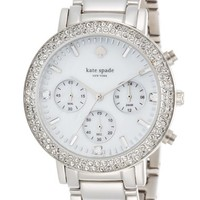 Women's kate spade new york 'gramercy grand' crystal bezel multifunction bracelet watch, 38mm
