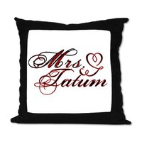 Mrs. Channing Tatum Suede Pillow on CafePress.com