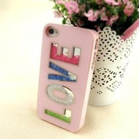 love diamond blingbling case for iphone 5