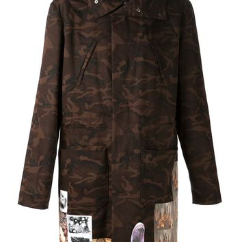 Raf Simons Sterling Ruby camouflage parka