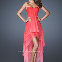 La Femme 18557 High Low Prom Dress