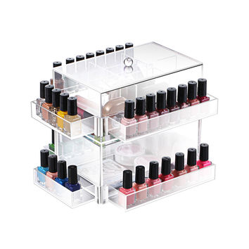 Ikee Design Clear Acrylic Rotating Makeup Organizer | Overstock.com Shopping - The Best Deals on Makeup Cases