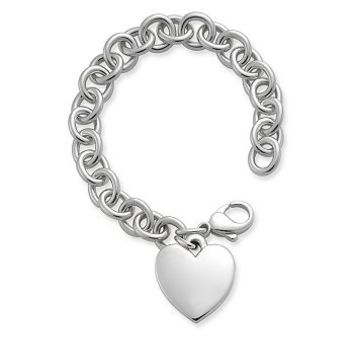 Classic Cable Bracelet with Heart   James Avery