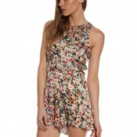 Makayla Playsuit in Floral Print - Glue Store