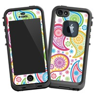 "Rainbow Paisley ""Protective Decal Skin"" for LifeProof fre iPhone 5/5s Case"