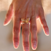 Float Away Gold Butterfly Ring
