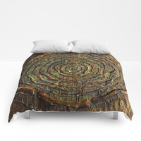 """""""Warrior"""" Textured Acrylic Abstract Painting Comforters by Sheila Wenzel"""