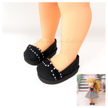 "Black Shoes fit 16"" Disney Animator Dolls, Black Slip On"