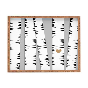 Allyson Johnson Birch Trees Rectangular Tray