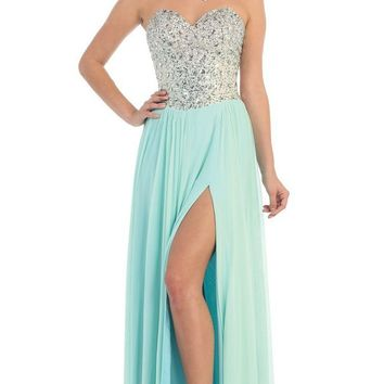 May Queen - Bedazzled Sweetheart A-line Prom Dress