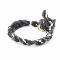 Ettika Black Braided Vintage Ribbon Rhinestone Crystal Bracelet: Jewelry: Amazon.com