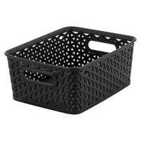 Y Weave Small Storage Bin - Black - Room Essentials™
