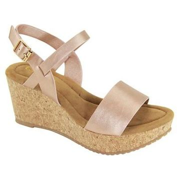 Walk My Way Rose Gold Wedge