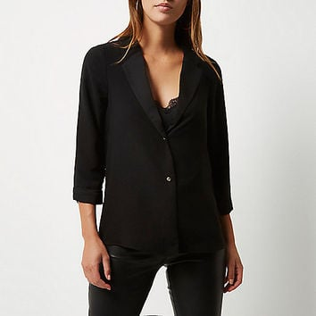 Black smart shacket - shirts - tops - women