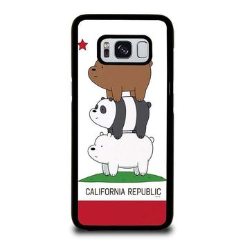we bare bears california republic samsung galaxy s3 s4 s5 s6 s7 edge s8 plus note 3 4 5 8  number 1