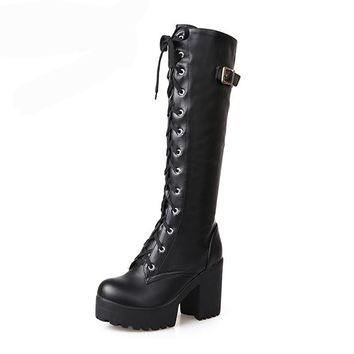 Boots | Women's Leather Lace Boots