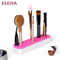 DK7G2 ELERA Magic Silicone Makeup Brushes Holder Box Makeup Brush Rack Holder Cosmetic Tool 3 Colors Free Shipping