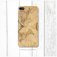 iPhone 4 and 4S case Vintage World Map