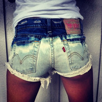 Distressed Bleached Studded Shorts by UrbanEclectics on Etsy