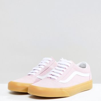 Vans Old Skool Pastel Pink Sneakers With Gum Sole at asos.com