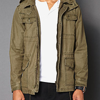 Detachable Hood Utility Jacket