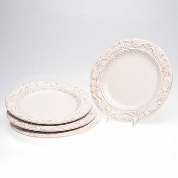 Certified International Firenze Ivory 4-pc. Dinner Plate Set (Beige/Khaki)