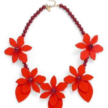 kate spade new york 'lovely lilies' statement necklace | Nordstrom