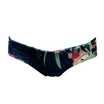 Stone Fox Swim Capri Bottom in Aloha Daze