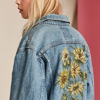 UO Design X Urban Renewal Vintage Floral Painted Denim Jacket - Urban Outfitters