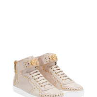 Versace Studded Lace up Hi top Sneaker for Men | US Online Store