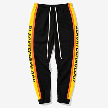 Mens Joggers Harem Pants Men Track Pants Long Trousers Men Sweatpants Loose Pants Men Track Pants With Side Stripe Men SizeS-2XL
