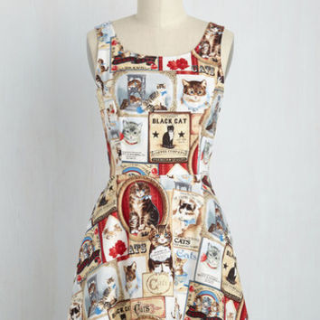 Cats Rule Everything Around Me Dress | Mod Retro Vintage Dresses | ModCloth.com