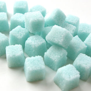 Blue Sugar Cubes for Tea Parties, Champagne Toasts, Favors, Coffee, Tea, Berries, Cider, Lemonade