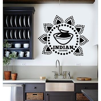 Vinyl Wall Decal Indian Cuisine Cooking Kitchen Decor Hot Food Chilli Stickers Mural (g1415)