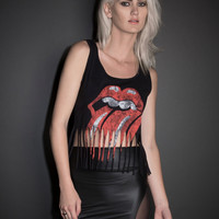The Rolling Stones Fringe Tank Top