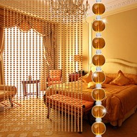Crystal Glass Bead Curtain Luxury Living Room Bedroom Window Door Wedding Decor 3.1
