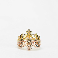 Elizabeth Knight Stacked Crown Ring