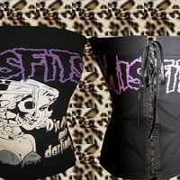 Rockabilly/ Psychobilly/ Punk/ Horror The Misfits corset top. Size S, M, L, XL