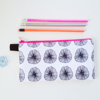 Modern Flower Beaded Pencil Case (exclusive fabric)