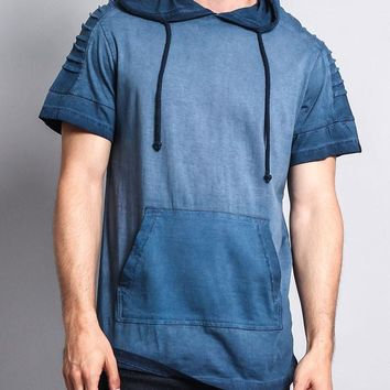 Surface Dyed Hooded T-Shirt 17191-1055 - EE10B