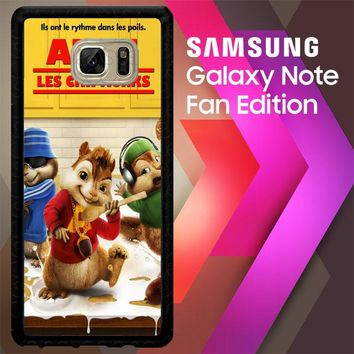 Alvin And The Chipmunks Y0710 Samsung Galaxy Note FE Fan Edition Case