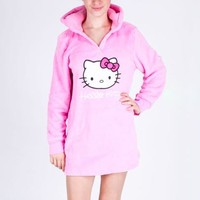 Hello Kitty Jrs Hooded Pullover: Pink