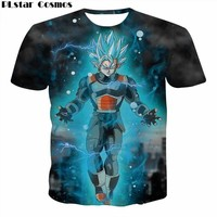 PLstar Cosmos Summer Hipster New Men/Women 3D Print Wukong Dragon Ball Z T Shirt Gohan trunks vegeta brand collar DBZ t shirt