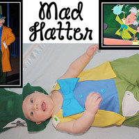 Disney Alice in Wonderland Mad Hatter jon-jon/ outfit/ clothes/ costume for boys sizes 1,2,3,4