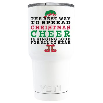 YETI The Best Way to Spread Christmas Cheer on White 30 oz Tumbler Cup
